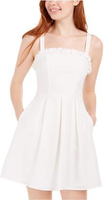 Speechless Juniors' Bow-Back Ruffled Dress