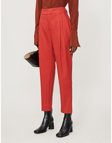 Anine Bing Becky tapered high-rise stretch-twill trousers