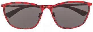 Balenciaga Eyewear Paris print rectangular-frame sunglasses