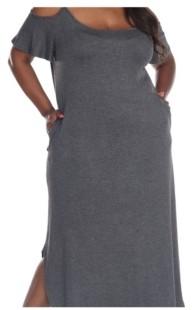 White Mark Plus Size Lexi Maxi Dress