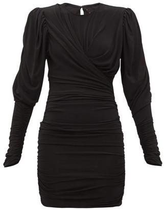 Isabel Marant Ghita Ruched Stretch-jersey Mini Dress - Black