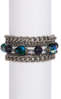 Sorrelli Emerald City Multi-Strand Crystal Bead Bracelet