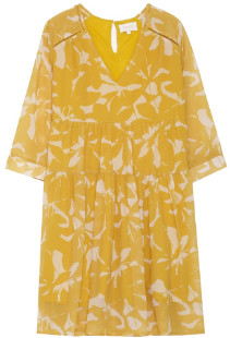 Mila Louise Grace & Yellow Floral Short Anouk Dress - small