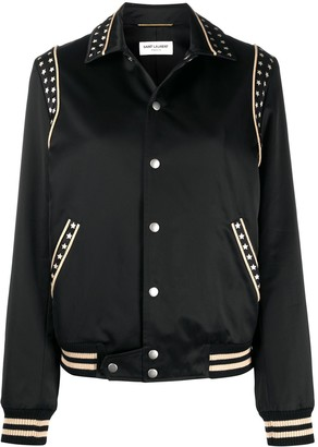 Saint Laurent Star-Print Bomber Jacket