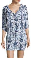 Vix Paula Hermanny Aisha Printed Ruffled Dress