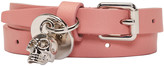 Alexander McQueen Pink Skull Double Wrap Bracelet
