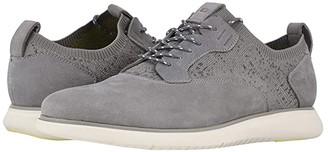 Florsheim Fuel Knit Plain Toe Oxford (Light Gray Nubuck/White Sole) Men's Shoes