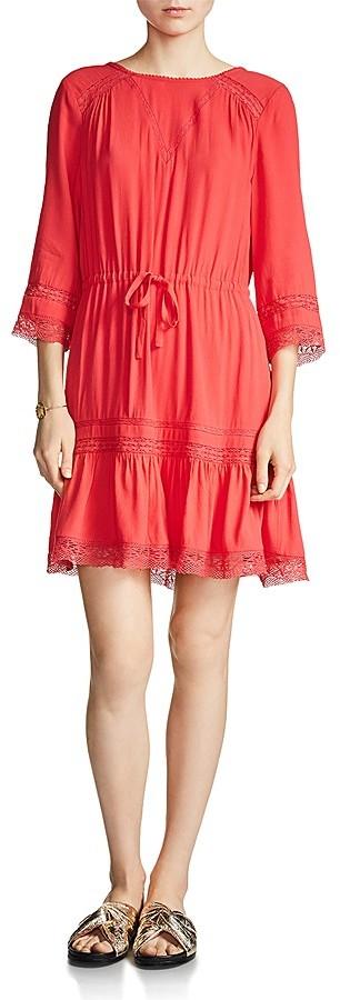 Maje Ronsard Lace-Trimmed Dress