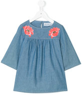 Simonetta floral denim blouse - kids - Cotton/Polyamide/Viscose - 6 yrs