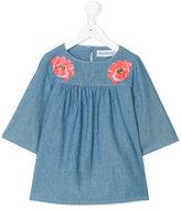 Simonetta floral denim blouse