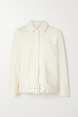 Anine Bing Jaden Belted Wool-blend Jacket - Off-white