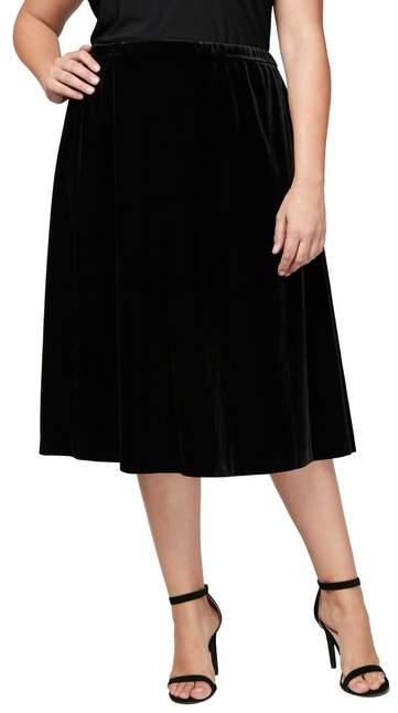Velvet Skirt (Plus Size)