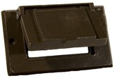 One Gang Weatherproof Covers in Bronze for Horizontal GFCI / Decorator Morris Products