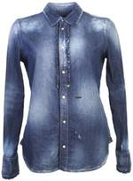 DSQUARED2 Denim Shirt With Ruffled Details