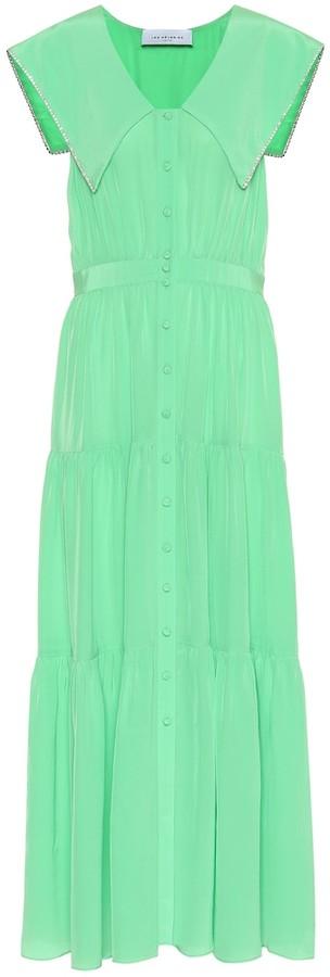 Les Rêveries Silk maxi dress