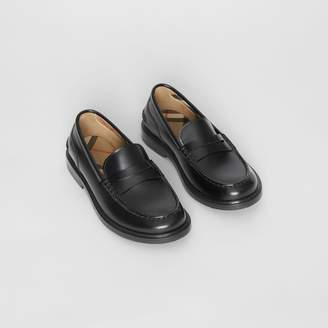 Burberry Childrens Smooth Leather Loafers
