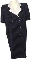 Ungaro Blue Wool Dress for Women Vintage