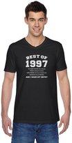 "TeeStars - 18th Birthday Gift Idea -""Best of 1997"" Novelty V-Neck T-Shirt"