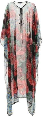 Dolce & Gabbana Floral silk-chiffon kaftan