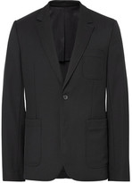 Ami Black Slim-fit Wool Suit Jacket