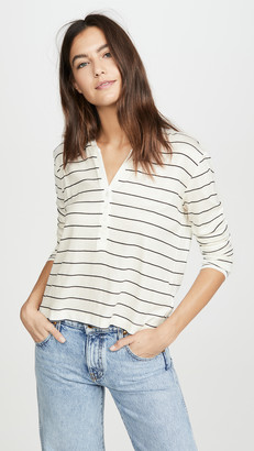 Splendid Long Sleeve Striped Henley