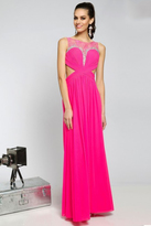 Jovani Sheer and Ruched Bodice A-line Evening Dress JVN94209