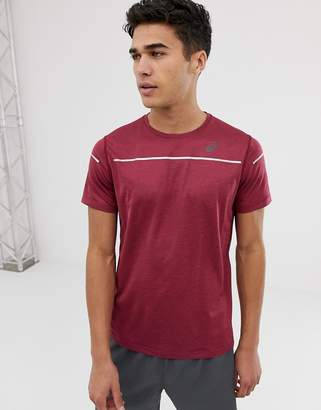 Asics Running Lite-Show T-Shirt In Burgundy-Red