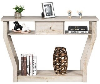 Overstock Console Table Modern Easy Assembly Entryway Table