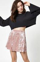 La Hearts Crushed Velvet Skater Skirt