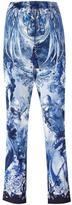 Roberto Cavalli nature print cropped trousers - women - Silk/Cotton/Viscose - 48