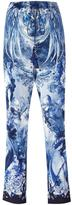 Roberto Cavalli nature print cropped trousers - women - Silk/Viscose/Cotton - 40