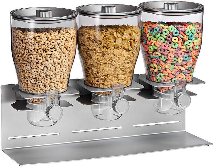 Honey-Can-Do Zevro by Commercial Plus Triple Canister Cereal Dispenser