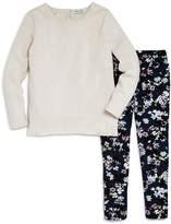 Splendid Girls' Long-Sleeve Tee & Floral Print Leggings Set