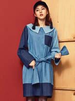 Blank Color Mix Dress Bl