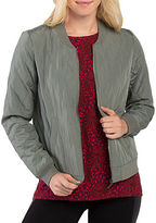 Kensie Quilted Bomber Jacket