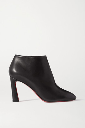 Christian Louboutin Eleonor 85 Leather Ankle Boots - Black