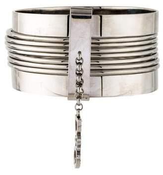 Dolce & Gabbana Crystal Logo Charm Bangle