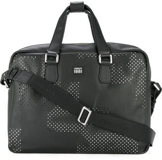 Cerruti punch hole detailed briefcase