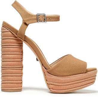 Schutz Jane Canvas Platform Sandals