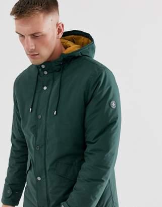 Original Penguin fleece lined hooded parka in dark green