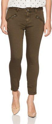 Jag Jeans Women's Petite Petite Ryan Skinny Jean in Color Knit Denim - Saddle