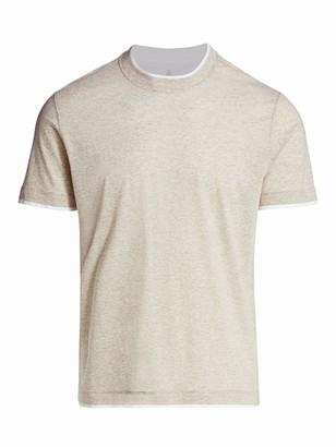 Brunello Cucinelli Fine Stripe T-Shirt