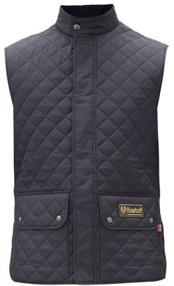 Belstaff Diamond-quilted Shell Gilet - Navy