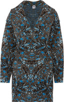 M Missoni Oversized jacquard-knit wool-blend coat