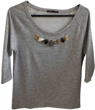 Maje Grey Cotton Knitwear for Women