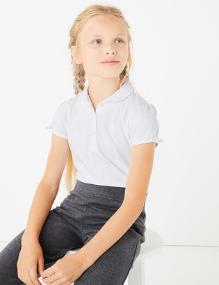 Marks and Spencer 2pk Girls' Regular Fit School Polo Shirts