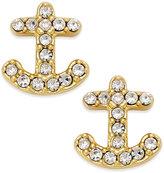 Kate Spade 14k Gold-Plated Pavé Anchor Stud Earrings