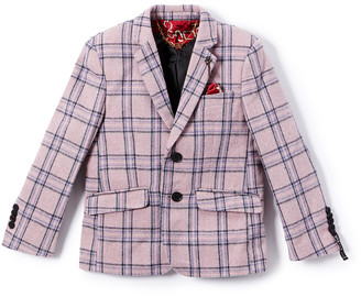 Elie Balleh Boys' Blazers PINK - Pink Wool-Blend Blazer - Toddler & Boys