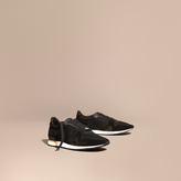 Burberry The Field Sneaker In Suede And Mesh