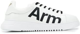 Emporio Armani Arm slogan sneakers
